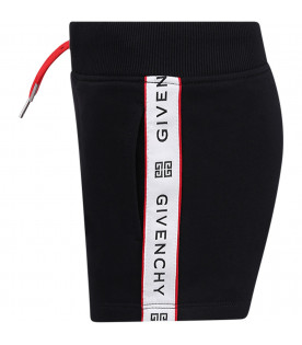 GIVENCHY KIDS Black girl short with black logo
