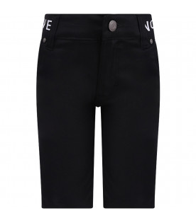GIVENCHY KIDS Black boy short with black thunder