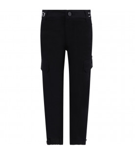 GIVENCHY KIDS Black boy pants with black thunder