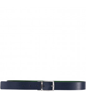ARMANI JUNIOR   Blue and green reversible boy belt