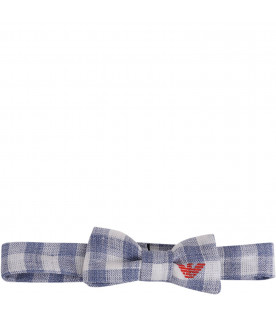 ARMANI JUNIOR   Light blue and white babyboy bow-tie