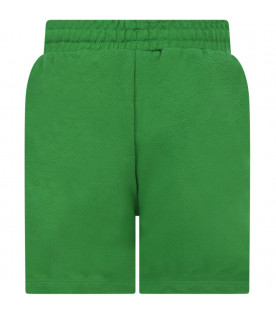 MINI RODINI Green girl short with black panther