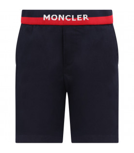 MONCLER KIDS Blue boy shorts