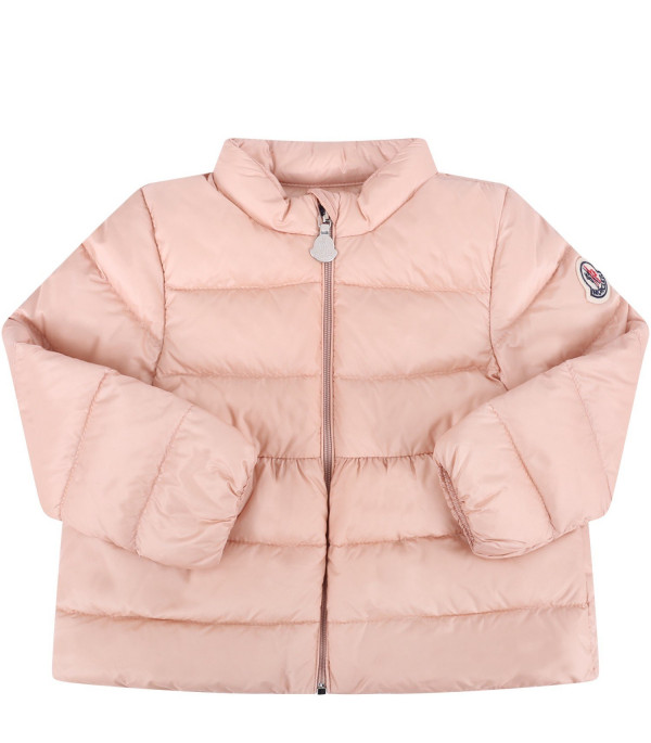 """MONCLER KIDS Pink baby girl """"Joelle"""" quilted jacket"""