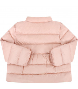 "MONCLER KIDS Pink baby girl ""Joelle"" quilted jacket"