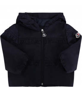 "MONCLER KIDS Blue baby girl ""Hiti"" windbreaker jacket"