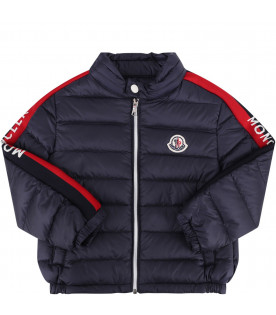"MONCLER KIDS Blue baby boy ""Acteon"" quilted jacket"