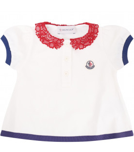 MONCLER KIDS Ivory baby girl set