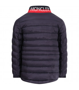 "MONCLER KIDS Blue boy ""Lot"" quilted jacket"