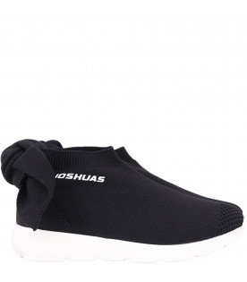 JOSHUA SANDERS KIDZ Black girl sneaker with white logo