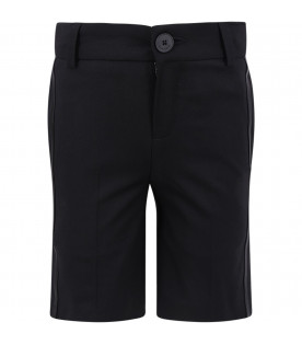 GIVENCHY KIDS Black boy short with black arrow