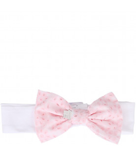 SIMONETTA White girl hairband with bow