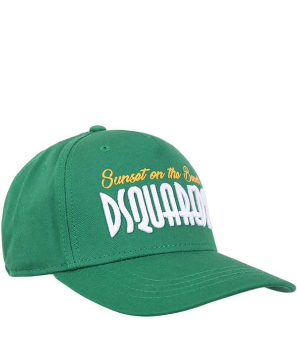 DSQUARED2 Green kids hat with white logo