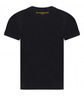 GIVENCHY KIDS Black kids T-shirt with four iconic G