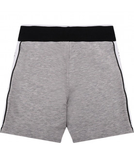 GIVENCHY KIDS Grey babykids short with black logo