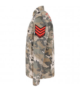 ZADIG & VOLTAIRE KIDS Camouflage boy jacket with red logo