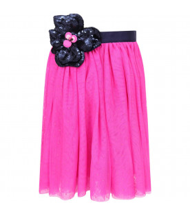 LITTLE MARC JACOBS Fucshia girl skirt with blue flowers