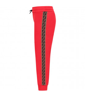 Red kids pants with iconic double FF