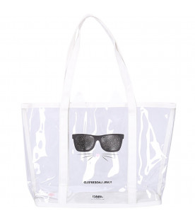 KARL LAGERFELD KIDS Transparent girl bag with black logo