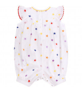 STELLA MCCARTNEY KIDS Tutina bianca per neonata con stalle colorate