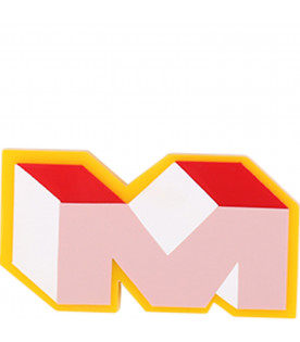 MARNI KIDS Yellow, red, white and pink girl brooch