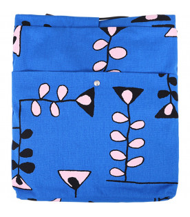 MARNI KIDS Royal blue girl bag with pink and black prints
