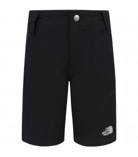 THE NORTH FACE KIDS Short nero per bambino con logo grigio