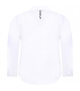 DONDUP KIDS White boy shirt with black logo