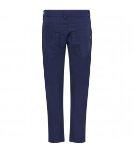Blue boy pants with iconic metallic D