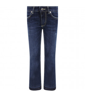 DONDUP KIDS Blue '' Neon'' girl jeans with iconic D