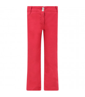 Red girl pants with iconic D