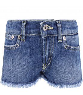Light blue ''Jude'' girl short with iconic D