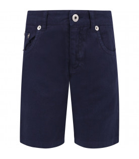 DONDUP KIDS Blue boy short with iconic D
