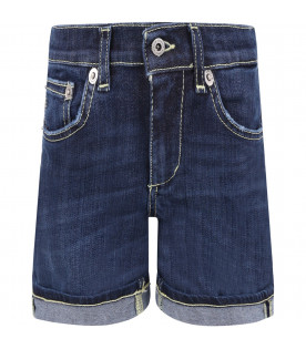 DONDUP KIDS Blue ''Holly'' boy short with iconic D