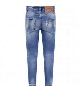 Light blue boy jeans with iconic metallic D