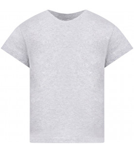 STELLA MCCARTNEY KIDS Grey girl T-shirt