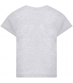 STELLA MCCARTNEY KIDS T-shirt grigia per bambina