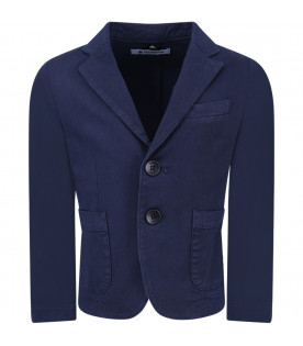 DONDUP KIDS Blue boy jacket with iconic D