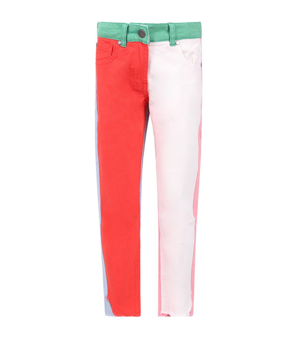 STELLA MCCARTNEY KIDS Color block girl pants with logo