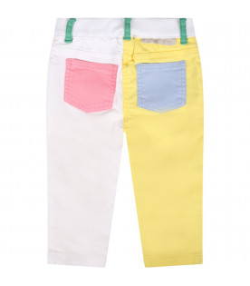 STELLA MCCARTNEY KIDS Color block babygirl jeans with logo