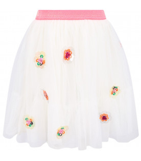 BILLIEBLUSH White girl skirt with colorful flowers