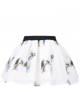 CAROLINE BOSMANS White girl skirt with horses