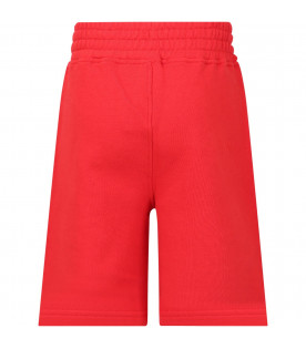 NEIL BARRETT KIDS Red boy short with thunders
