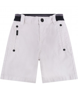 GIVENCHY KIDS White babyboy short with black rrow