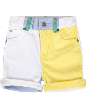 STELLA MCCARTNEY KIDS Short color block per neonato con logo