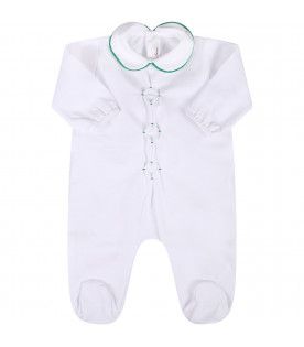 LITTLE BEAR White babykids babygrow with rhombus