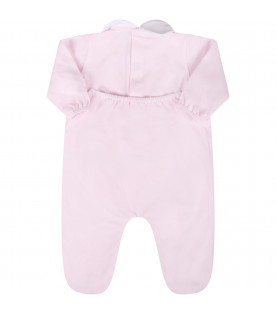 LITTLE BEAR Pink babygirl babygrow with  bows