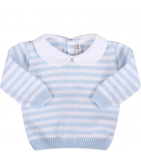LITTLE BEAR White and light blue babyboy suit