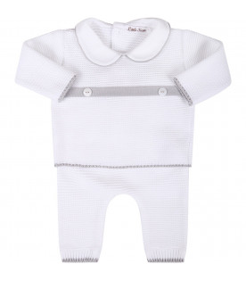 LITTLE BEAR White babykids suit with grey belt