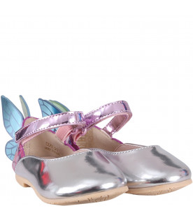 SOPHIA WEBSTER MINI Colorful ''Chiara''  girl flat shoes